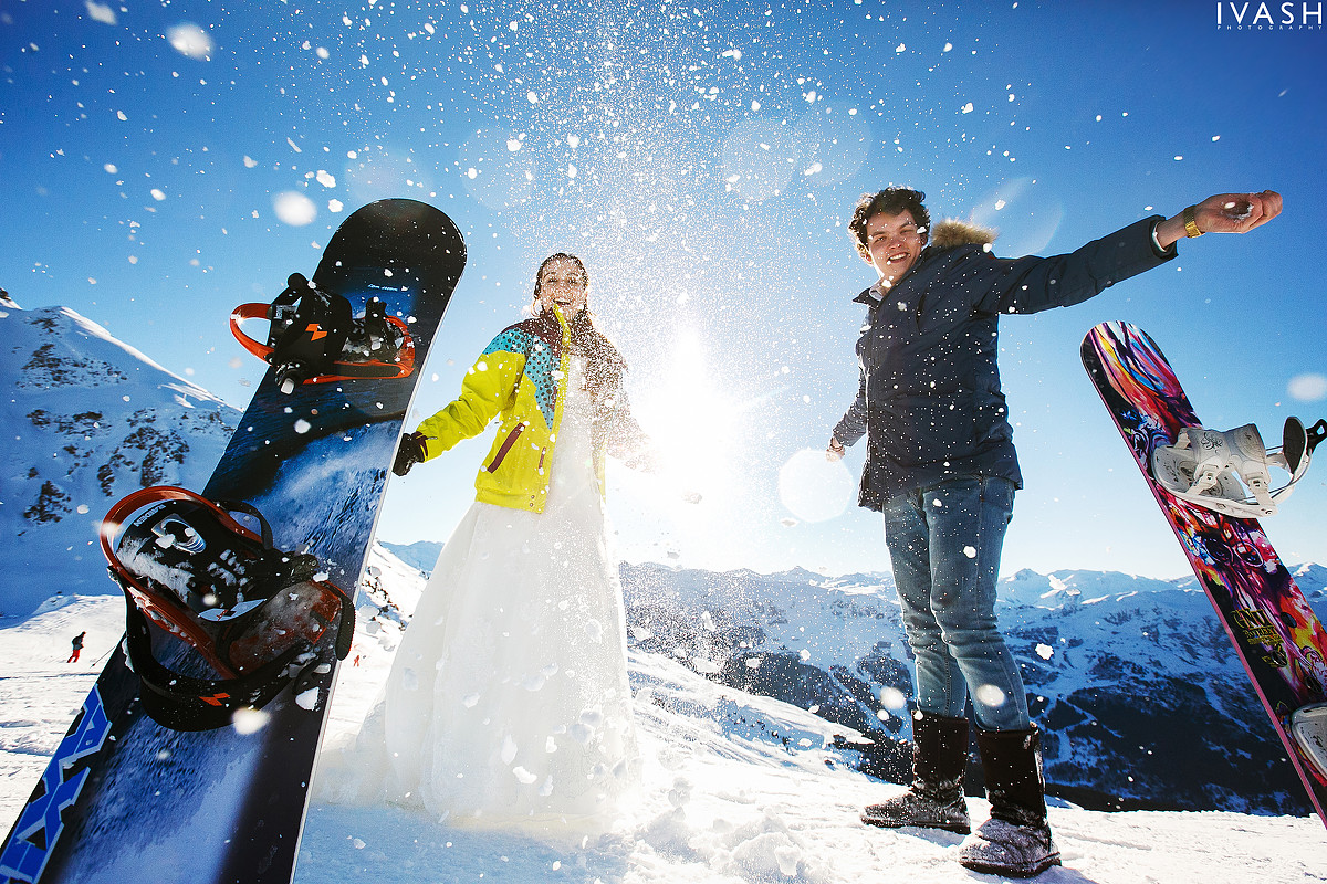 Две свадьбы и одно свадебное путешествие. Снег